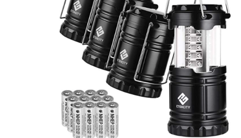 Forget about just one LED Lantern. Grab 4 for under $20 (Photo via Amazon)