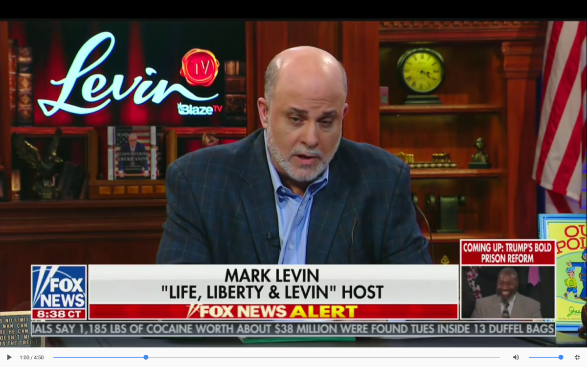 Conservative Commentator Mark Levin visited Sean Hannity on Fox News Thursday evening to discuss the possibility of 16-year-old voting and adding justices to the United States Supreme Court. Fox Screenshot