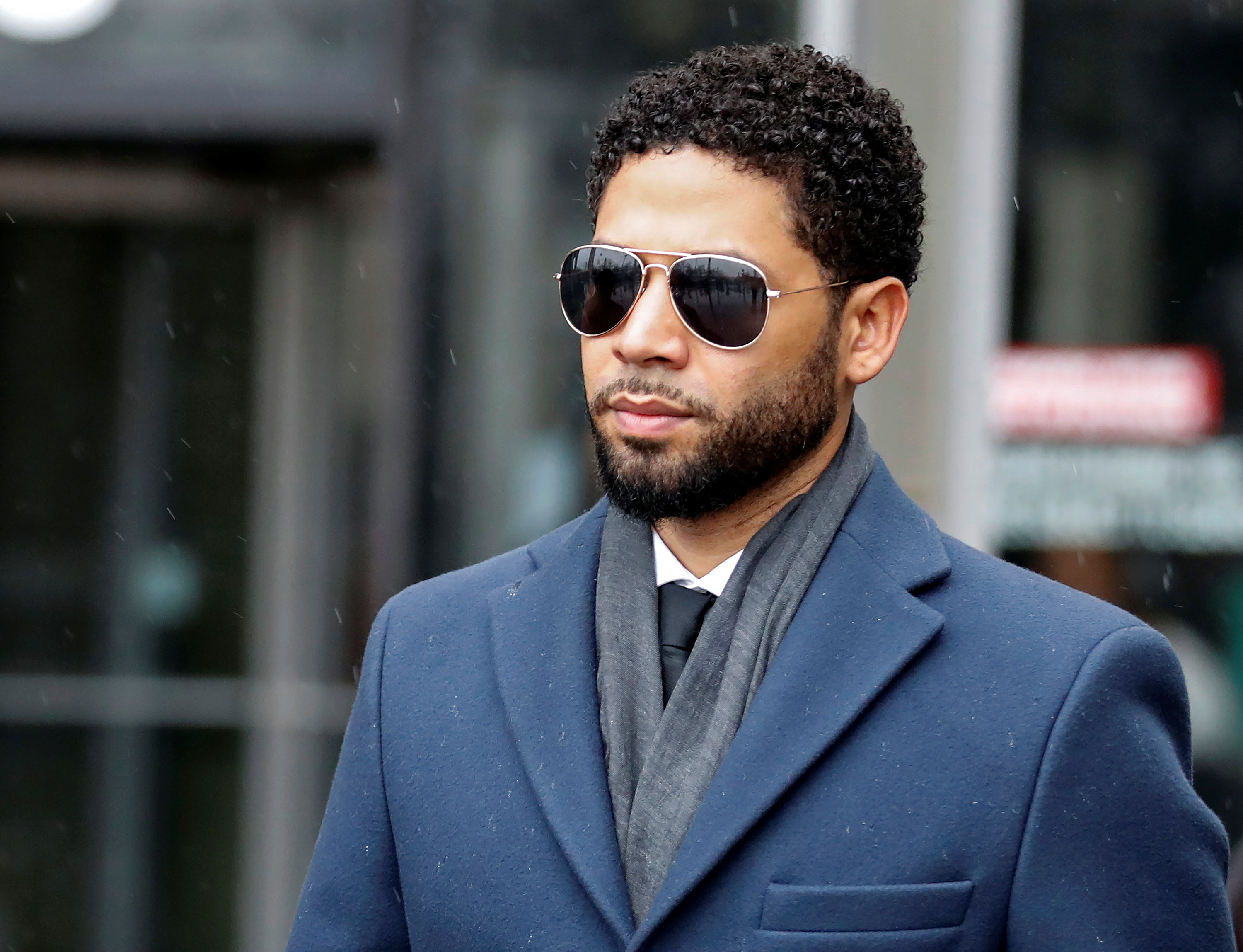 Actor Jussie Smollett leaves the Leighton Criminal Court Building after his hearing in Chicago, Illinois, U.S. March 14, 2019. REUTERS/Kamil Krzaczynski