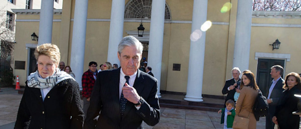 Special counsel Robert Mueller walks with his wife Ann Mueller on March 24, 2019 in Washington, DC WASHINGTON, DC - MARCH 24: Special counsel?Robert Mueller walks with his wife Ann Mueller on March 24, 2019 in Washington, DC. Special counsel Robert Mueller has delivered his report on alleged Russian meddling in the 2016 presidential election to Attorney General William Barr. (Photo by Tasos Katopodis/Getty Images)