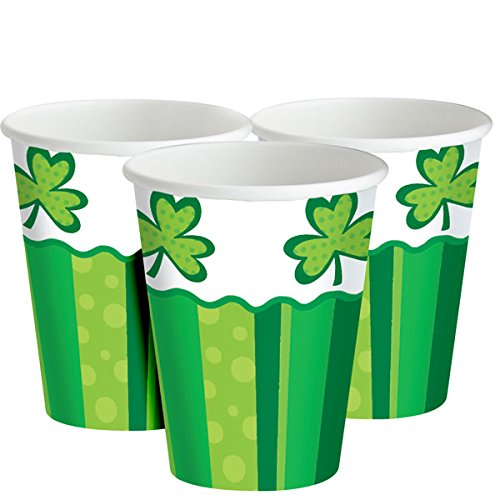 These Shamrock-themed cups are perfect for consuming your favorite beverages (Photo via Amazon)