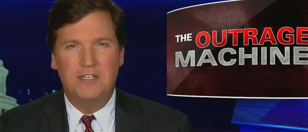 Tucker Carlson slams the great American outrage machine (Fox News screengrab)