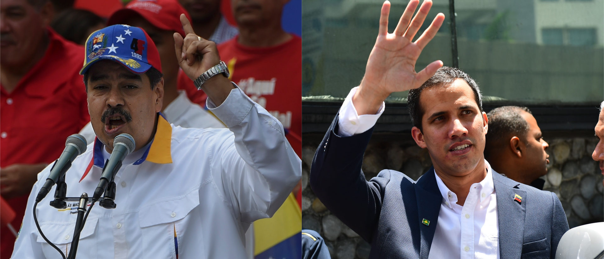 Maduro and Guiado side-by-side/ Getty Images collage