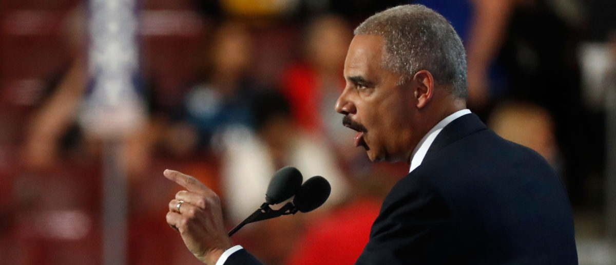 Former U.S. Attorney General Eric Holder wants Democrats to consider packing the Supreme Court (Photo by Aaron P. Bernstein/Getty Images)