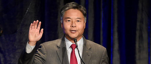 BEVERLY HILLS, CA - NOVEMBER 11: Congressman Ted Lieu (D-CA) speaks onstage at the ACLU's Annual Bill of Rights Dinner at the Beverly Wilshire Hotel on November 11, 2018 in Beverely Hills, California. (Photo by Kevin Winter/Getty Images)