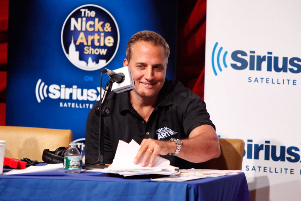 NEW YORK, NY - JULY 19: Comedian Nick DiPaolo attends Sirius XM Annual Celebrity Fantasy Football Draft at Hard Rock Cafe New York on July 19, 2012 in New York City. (Photo by Cindy Ord/Getty Images for Sirius XM Radio)