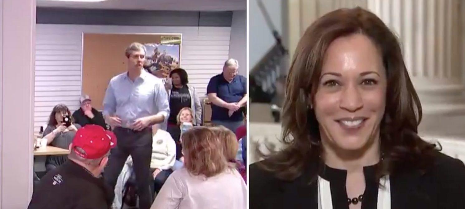 Kamala Harris responds to Beto O'Rourke's 2020 announcement. Screen Shot/MSNBC