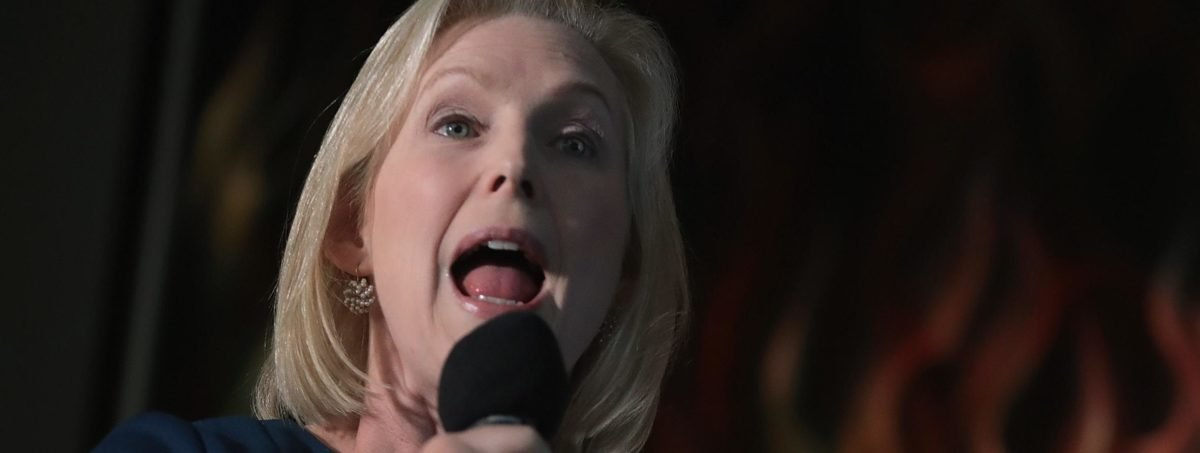 U.S. Senator Kirsten Gillibrand speaks to guests during a campaign stop at the Chrome Horse Saloon on February 18, 2019 in Cedar Rapids, Iowa. (Photo by Scott Olson/Getty Images)
