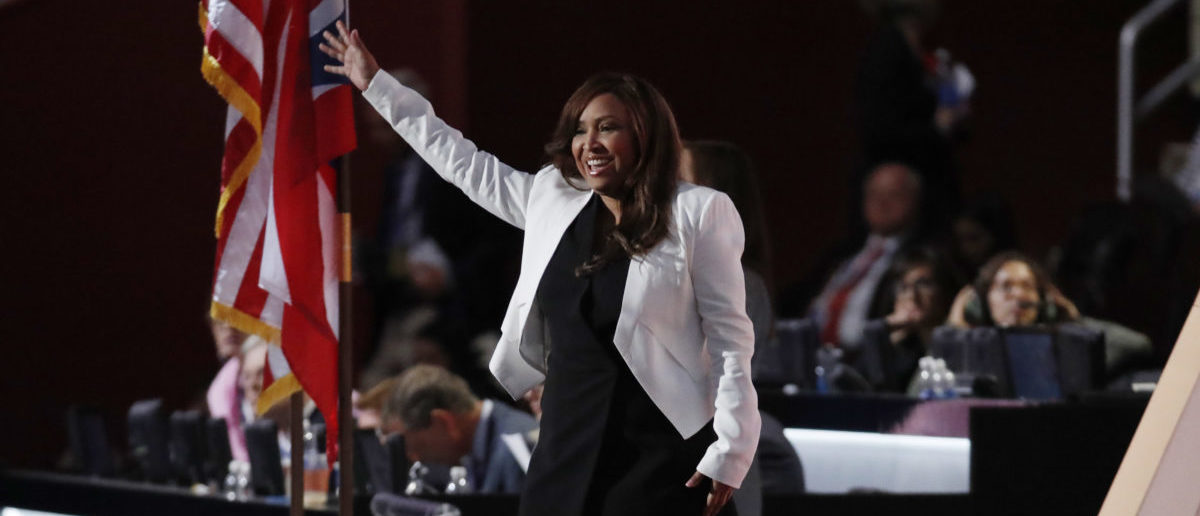 Lynne Patton, vice president of The Eric Trump Foundation, takes the stage at the Republican National Convention in Cleveland, Ohio, U.S. July 20, 2016.