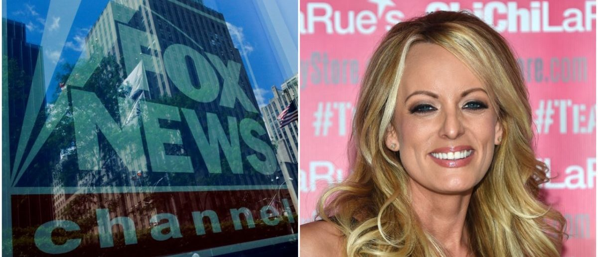 Left: Fox News (Reuters), Right: Stormy Daniels (Getty Images)