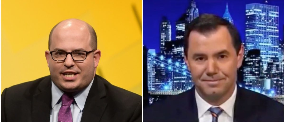 Left: Brian Stelter (Getty Images), Right: Joe Concha (YouTube Screenshot)