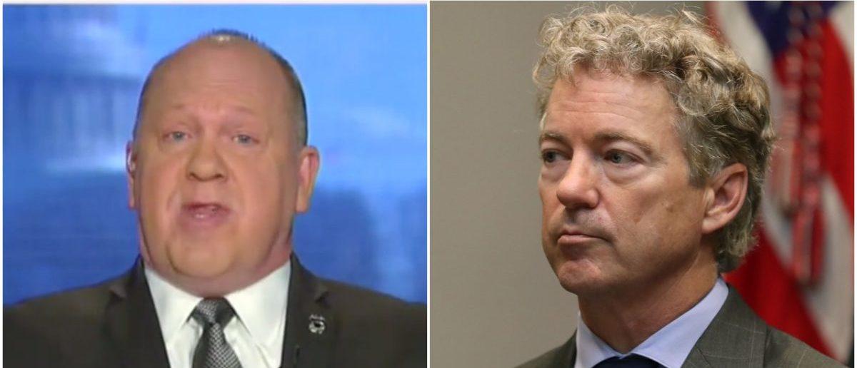 Left: Tom Homan (Fox News Screenshot: March 5, 2019), Right: Sen. Rand Paul (Getty Images)