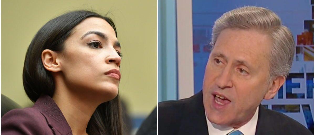Left: Ocasio-Cortez (Getty Images), Right: Mark Weinberg (Fox News Screenshot)