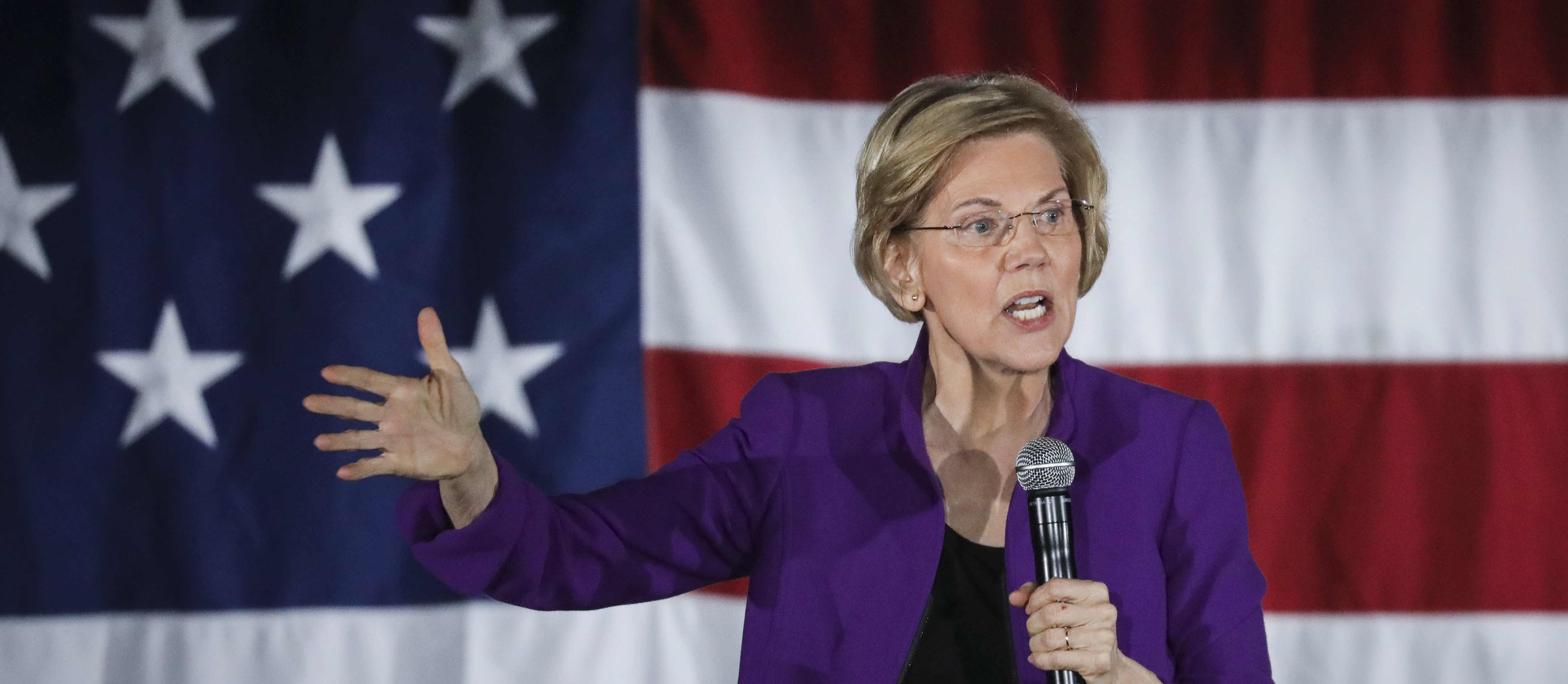 NEW YORK, NY - MARCH 08: Sen. Elizabeth Warren (D-MA), one of several Democrats running for the party's nomination in the 2020 presidential race, speaks during a campaign event, March 8, 2019 in the Queens borough of New York City. (Photo by Drew Angerer/Getty Images)