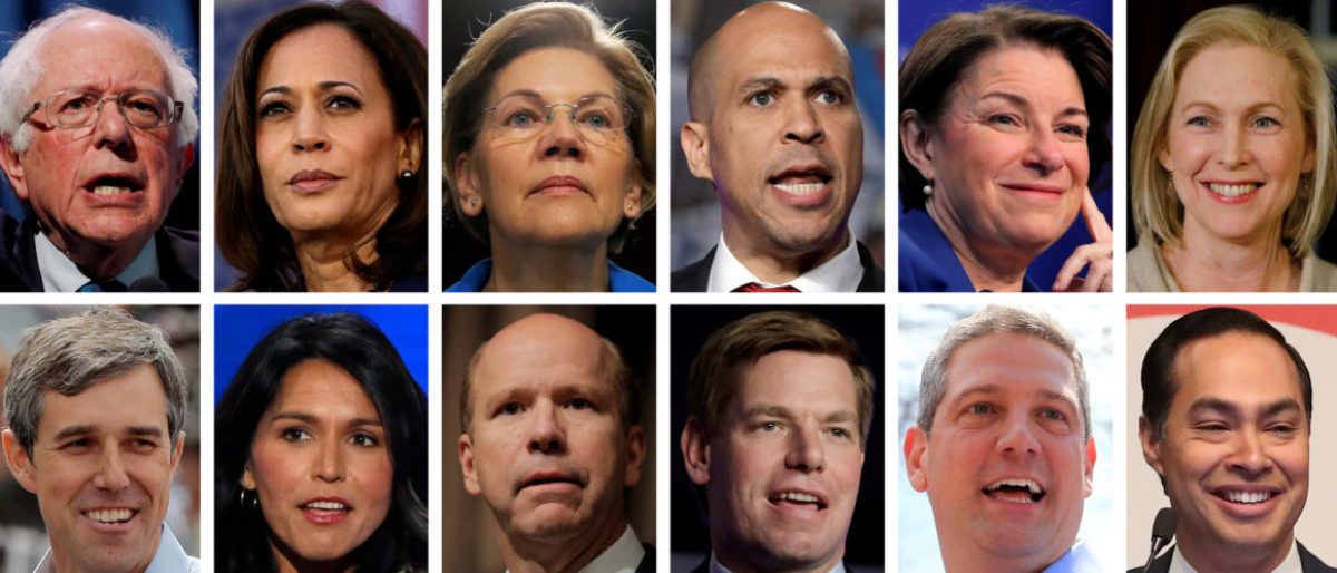 2020 Democratic presidential candidates are seen in a combination of file photos (L-R top row): U.S. Senators Bernie Sanders, Kamala Harris, Elizabeth Warren, Cory Booker, Amy Klobuchar, and Kirsten Gillibrand. (L-R middle row): Former Texas congressman Beto O'Rourke, U.S. Representatives Tulsi Gabbard, John Delaney, Eric Swalwell, Tim Ryan, and former HUD Secretary Julian Castro. (L-R bottom row): Mayor Pete Buttigieg, Former Gov. John Hickenlooper, Gov. Jay Inslee, Andrew Yang, Marianne Williamson, and Mayor Wayne Messam. REUTERS/Files.
