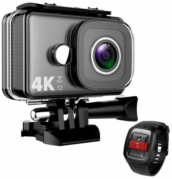 Normally $53, at $29.99 these 4K Action Cameras are sure not to last long. Makes a great gift! (Photo via Amazon)