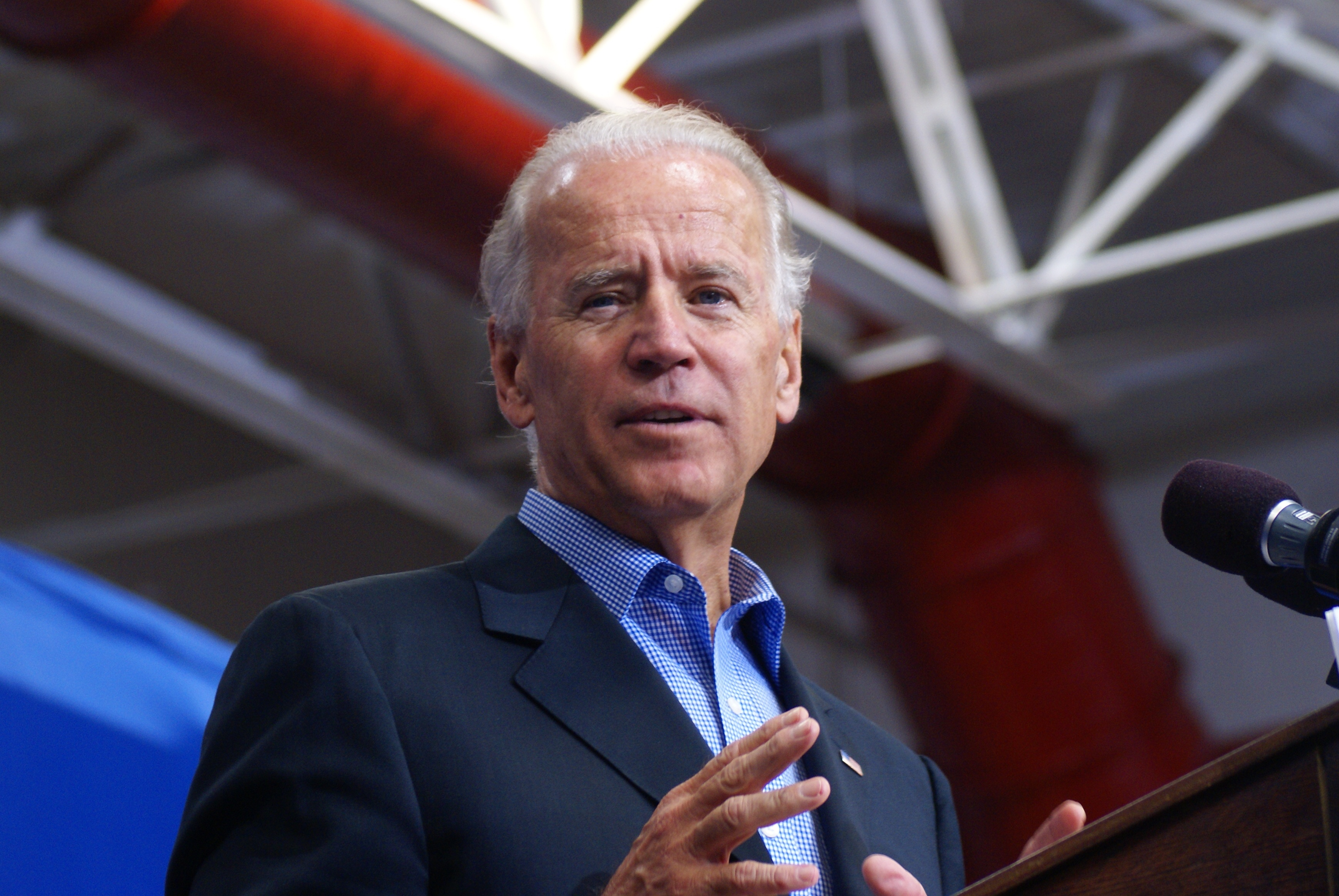 Joe Biden Speaking in a campaign event in 2012 in Merrimack, New Hampshire, Marc Nozell, Creative Commons