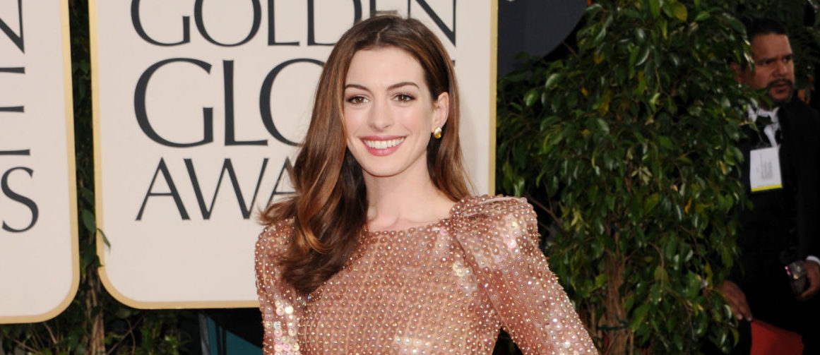 Actress Anne Hathaway arrives at the 68th Annual Golden Globe Awards held at The Beverly Hilton hotel on January 16, 2011 in Beverly Hills, California. (Photo by Jason Merritt/Getty Images)