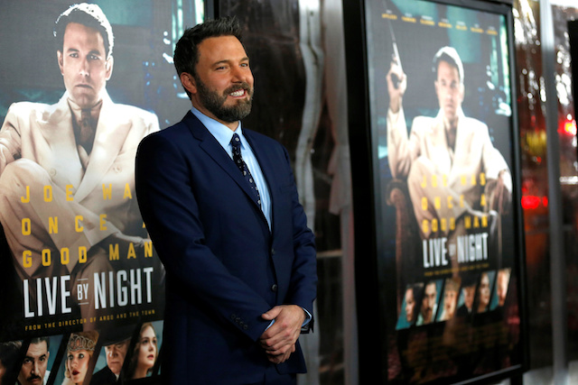 """Director and cast member Ben Affleck poses at the premiere of """"Live by Night"""" in Hollywood, California U.S., January 9, 2017. REUTERS/Mario Anzuoni"""