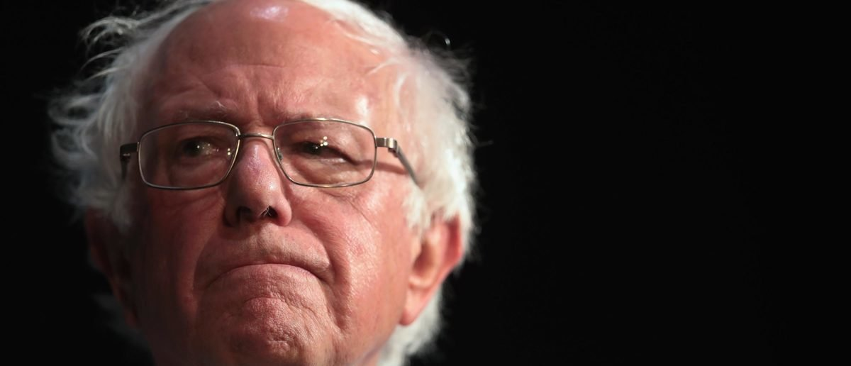 Democratic presidential candidate Senator Bernie Sanders (I-VT) host a campaign rally at the Fairfield Arts and Convention Center on April 06, 2019 in Fairfield, Iowa. (Photo by Scott Olson/Getty Images)