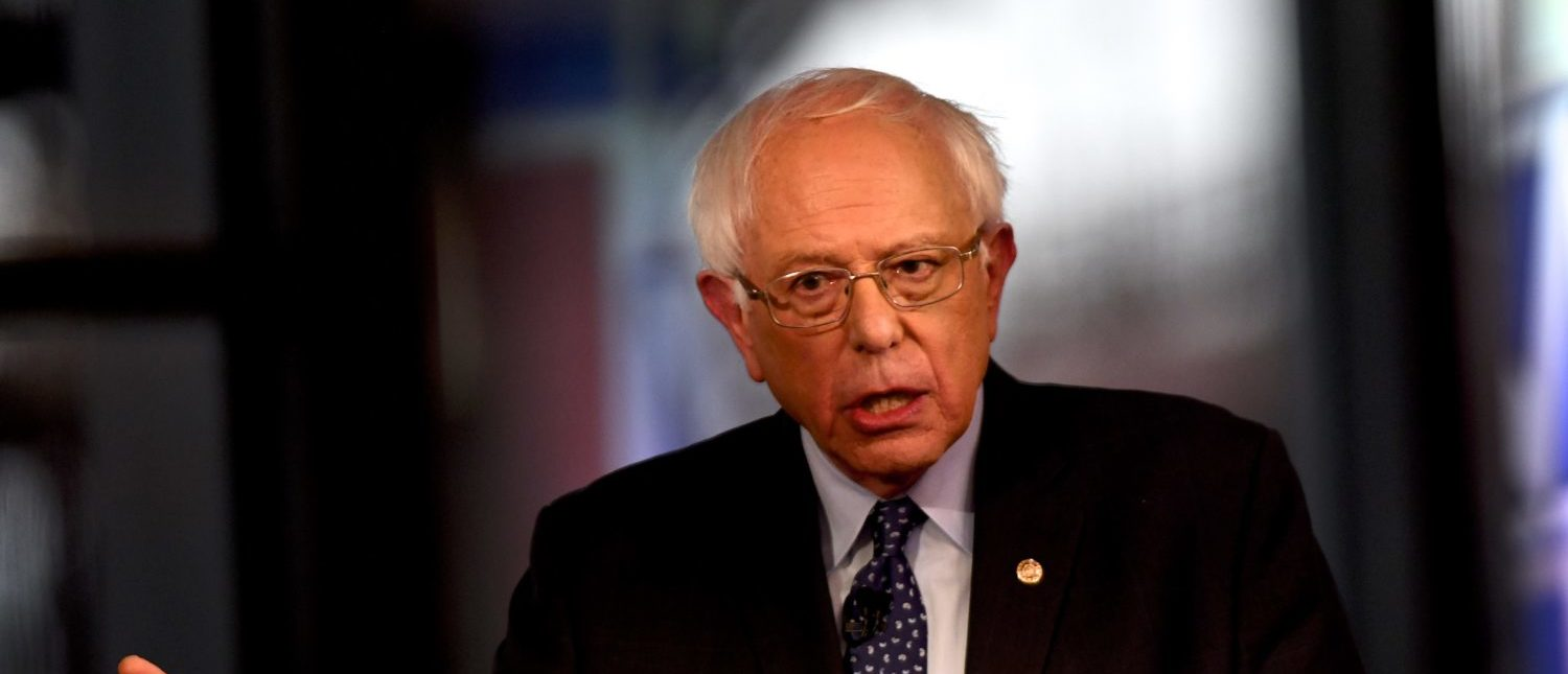BETHLEHEM, PA - APRIL 15: Democratic presidential candidate, U.S. Sen. Bernie Sanders (I-VT) participates in a FOX News Town Hall at SteelStacks on April 15, 2019 in Bethlehem, Pennsylvania. Sanders is running for president in a crowded field of Democrat contenders. (Photo by Mark Makela/Getty Images)