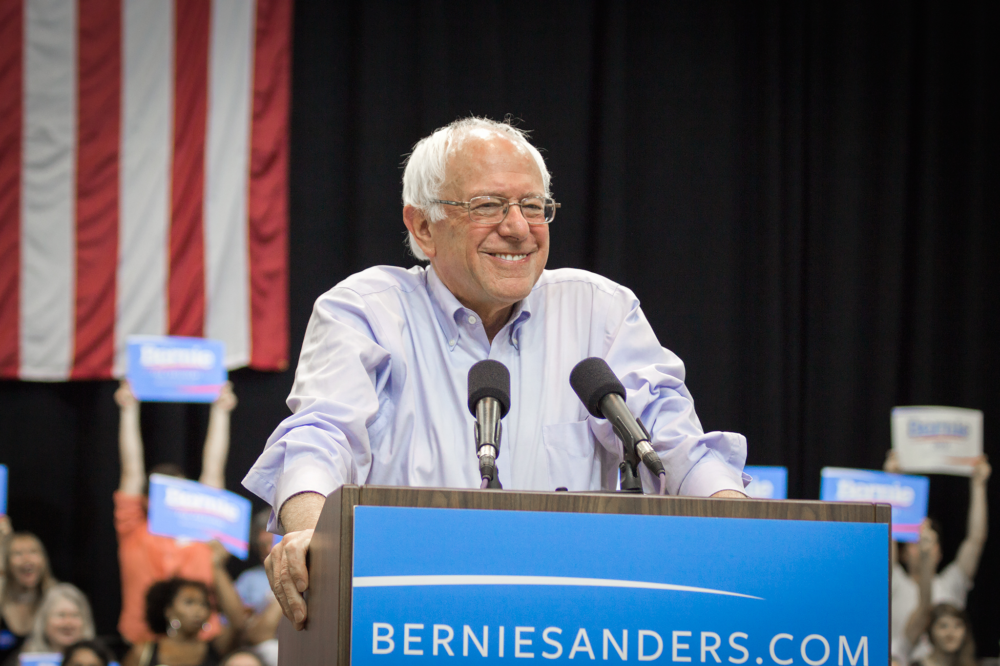Bernie Sanders campaigning for President in 2016 Nick Solari Creative Commons