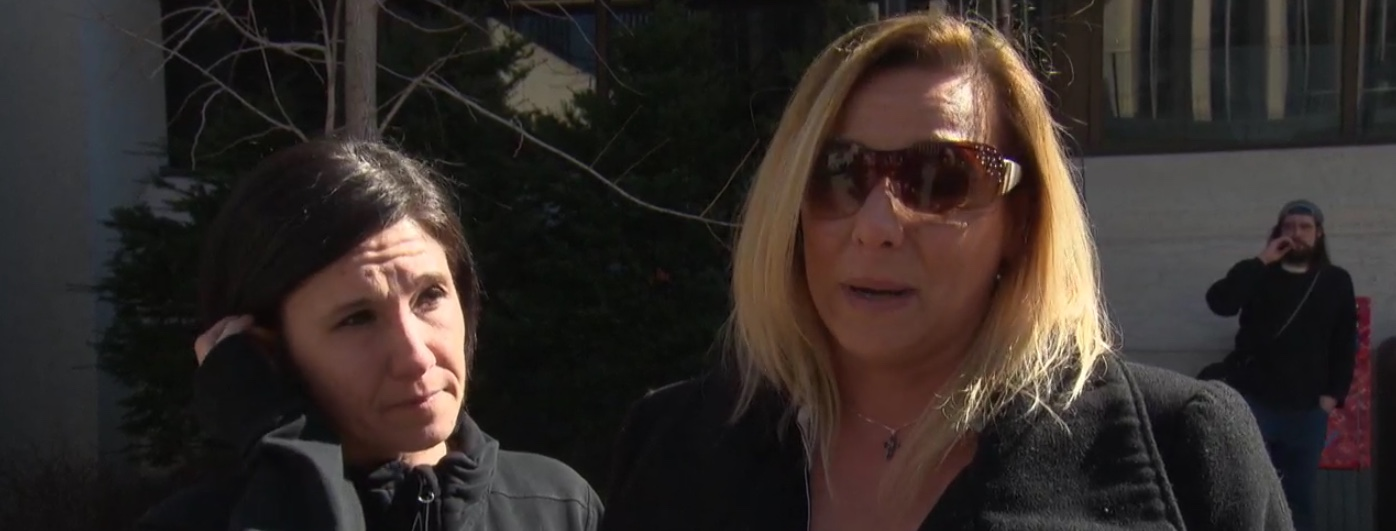 Family members of cyclist killed in hit-and-run accident discuss sentencing, Apr. 17. 2019. CBC News screenshot.