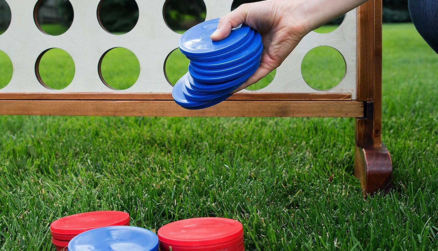 Durable Wooden Giant Connect Four Discounted By $31