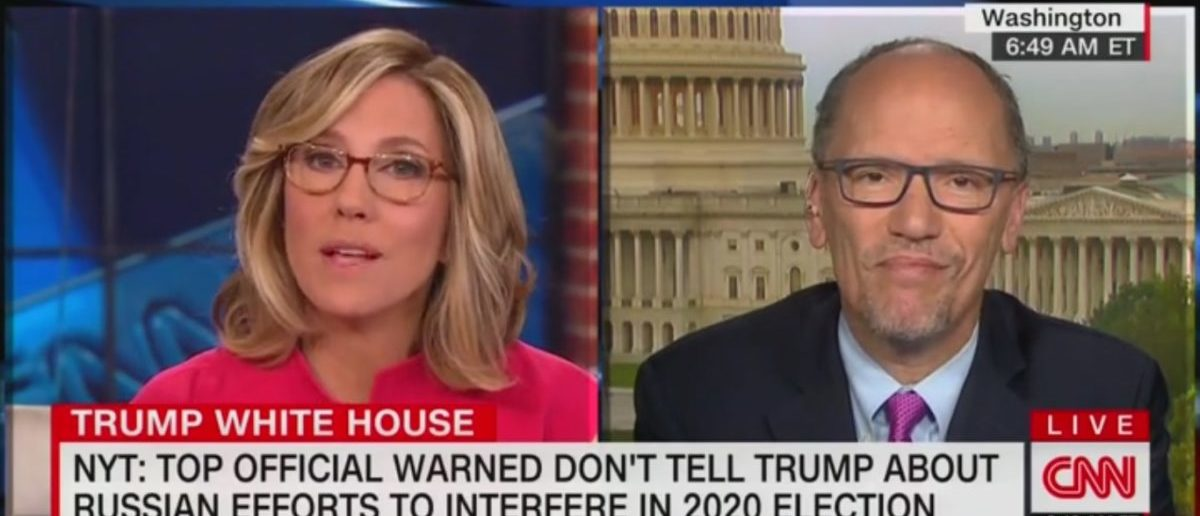 DNC Chair Tom Perez Claims America Is 'At War' With Russia And Says Trump Is 'Compromised'