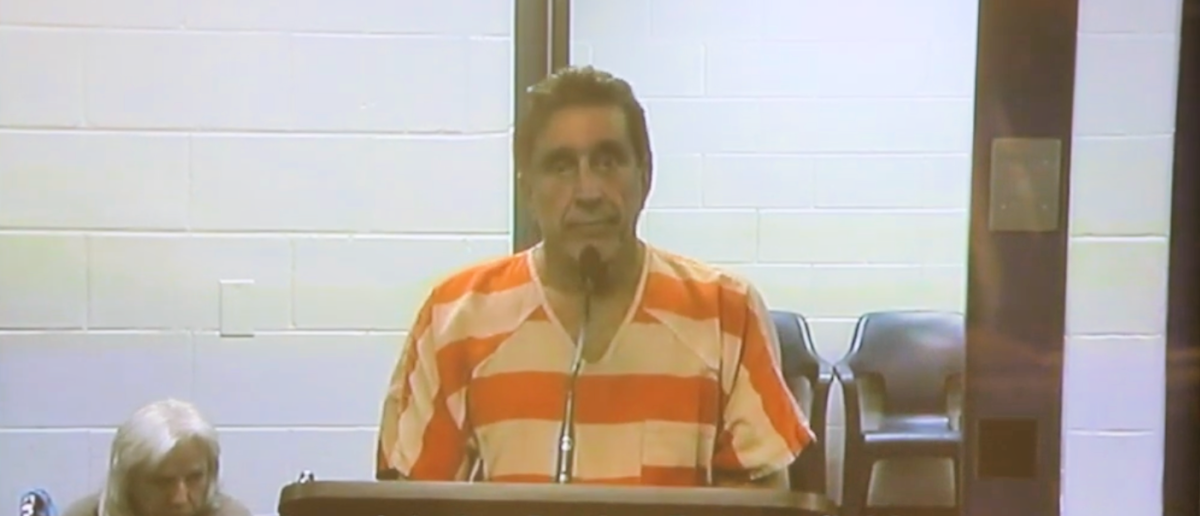 Former Mayor Dale Massad is seen at his arraignment in February 2019. (YouTube screenshot/Tampa Bay Times YouTube)