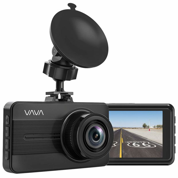 This car dash cam offers constant surveillance in case of an accident, even while parked (Photo via Amazon)