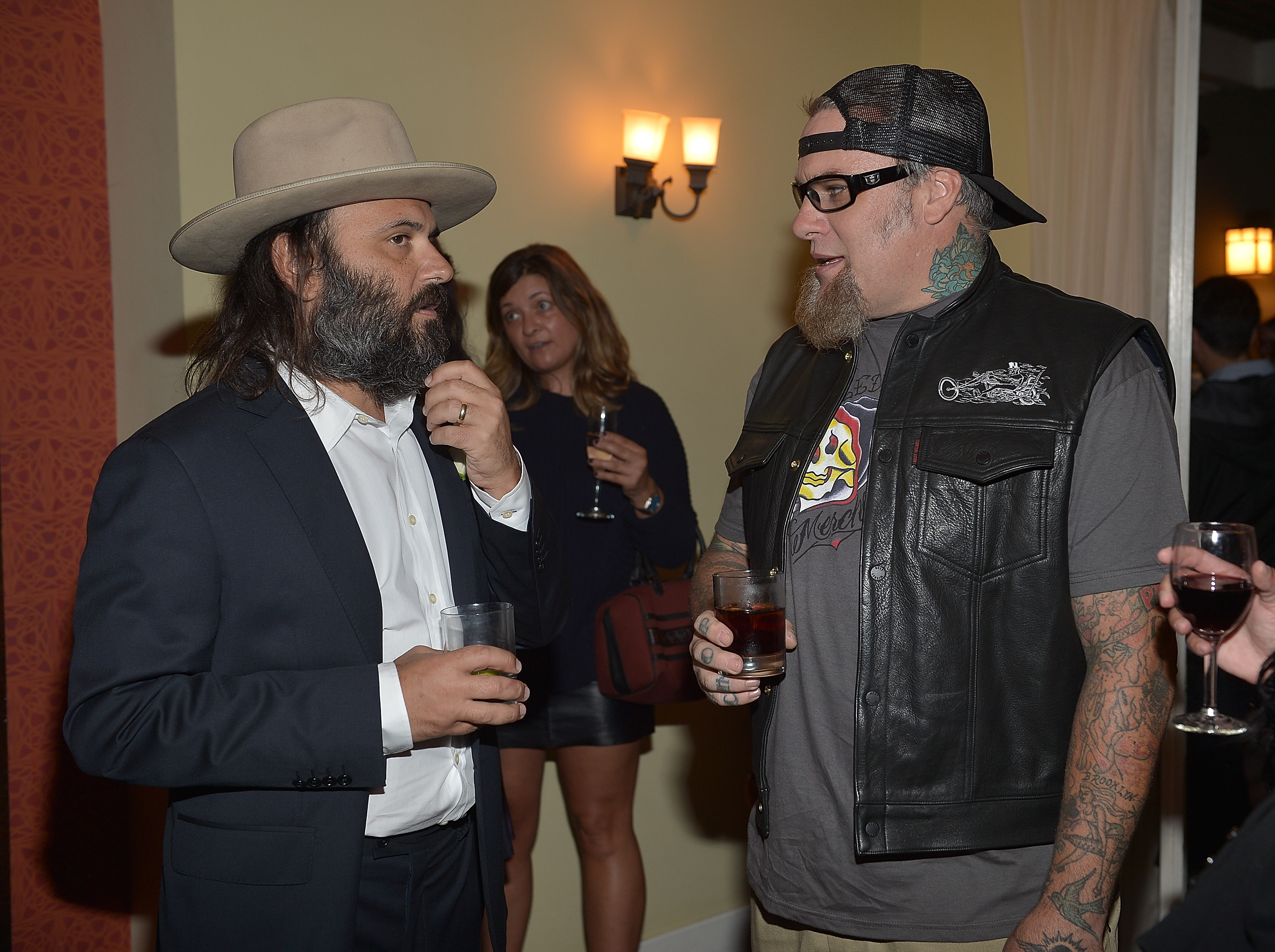Erik Brunetti (L) attends Erik Brunetti's FUCT Book Release Party at Chateau Marmont on September 18, 2013 in Los Angeles, California. (Charley Gallay/Getty Images for RVCA)