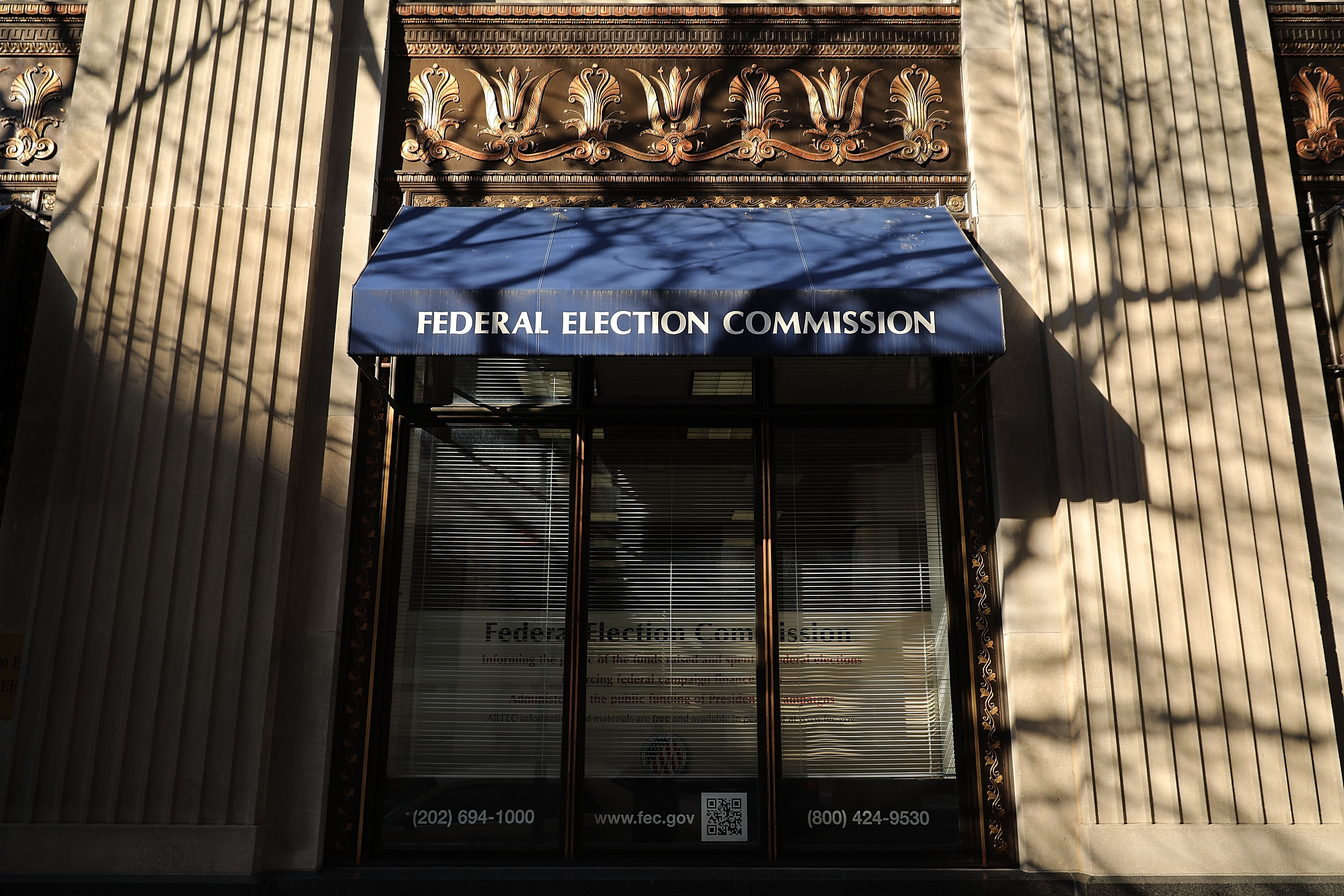 The Federal Election Commission headquarters October 24, 2016 in Washington, DC. (Photo by Chip Somodevilla/Getty Images)