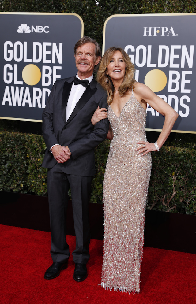 76th Golden Globe Awards January 6, 2019 - William H. Macy and Felicity Huffman. REUTERS/Mike Blake