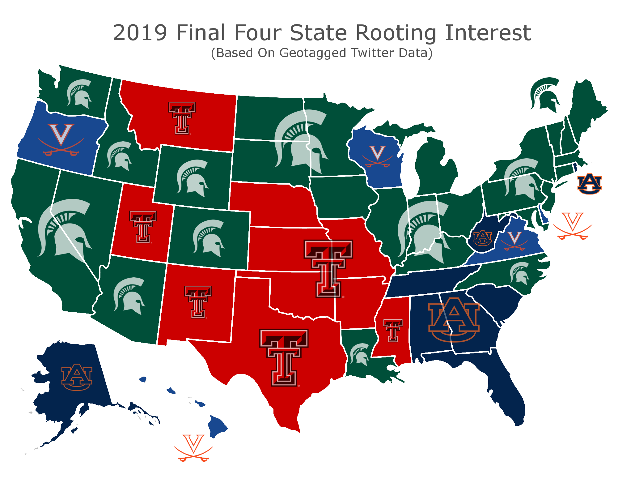 Final Four Support Map (Credit: betonline.ag)