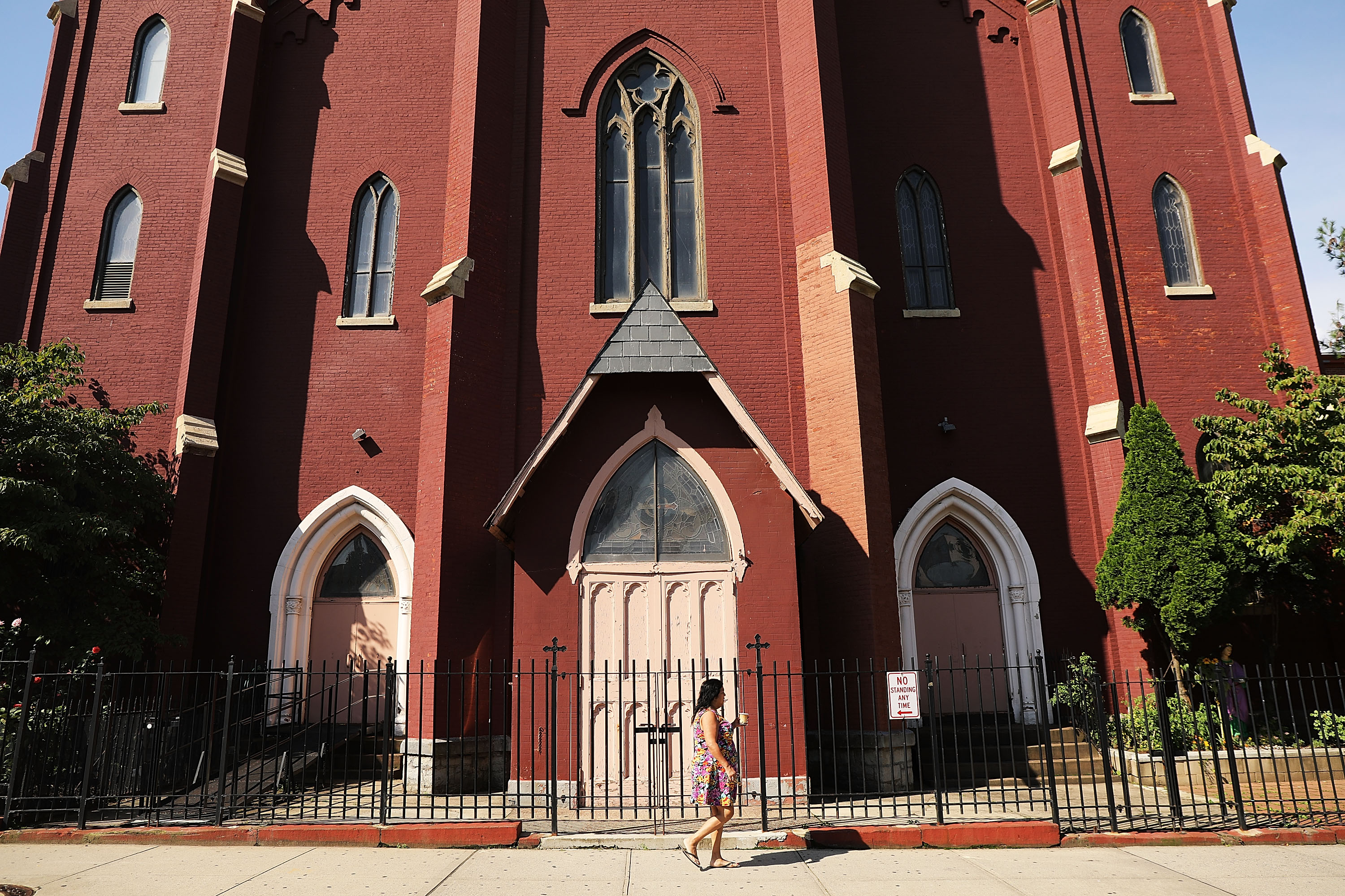 NEW YORK, NY - SEPTEMBER 19: St. Lucy's-St. Patrick's Church stands in Brooklyn on September 19, 2018 in New York City. (Spencer Platt/Getty Images)