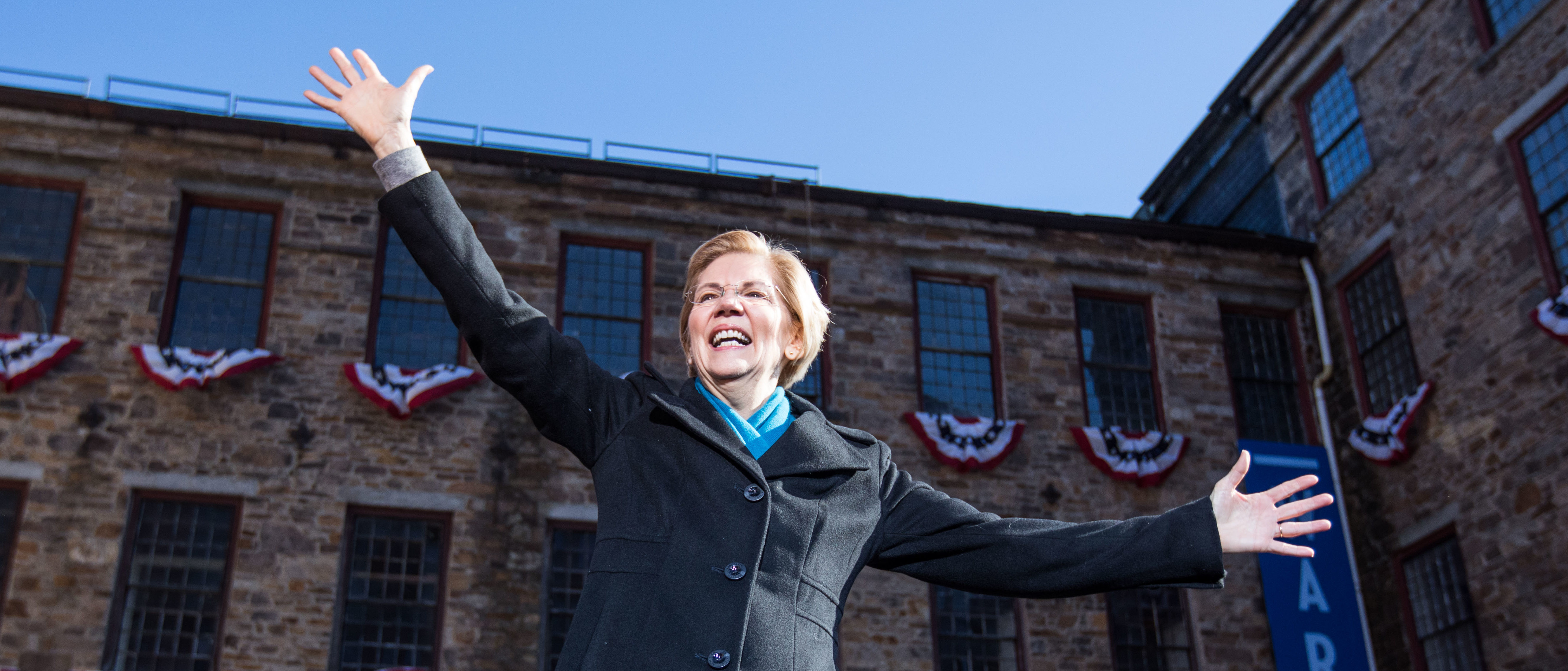 Sen. Elizabeth Warren (D-MA), announces her official bid for President on February 9, 2019 in Lawrence, Massachusetts. Warren announced today that she was launching her 2020 presidential campaign. (Photo by Scott Eisen/Getty Images)