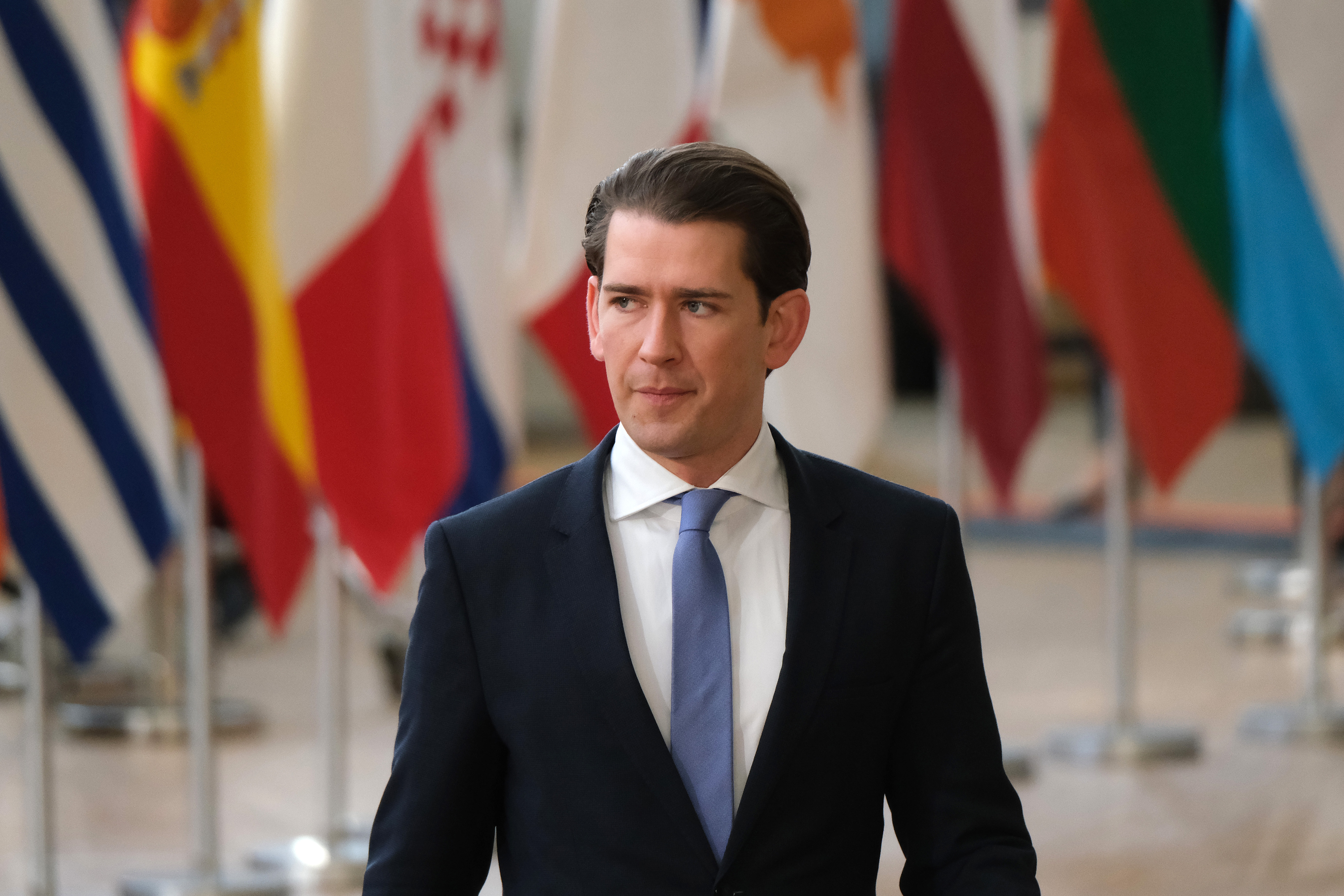 BRUSSELS, BELGIUM - MARCH 22: Austrian Chancellor Sebastian Kurz attends a celebration to mark the 25th anniversary of the European Economic Area on the second day of an EU summit on March 22, 2019 in Brussels, Belgium. (Sean Gallup/Getty Images)