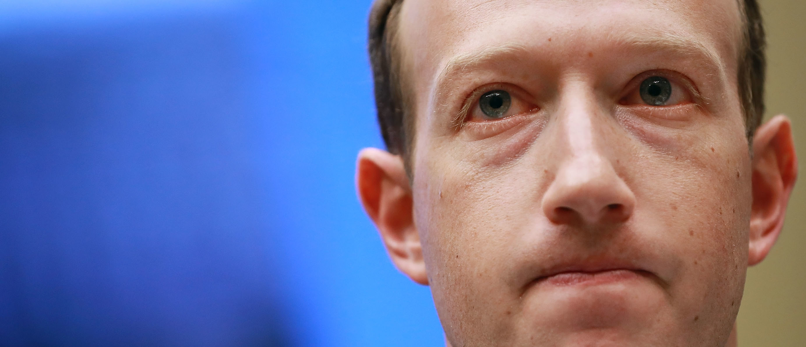 WASHINGTON, DC - APRIL 11: Facebook co-founder, Chairman and CEO Mark Zuckerberg testifies before the House Energy and Commerce Committee in the Rayburn House Office Building on Capitol Hill April 11, 2018 in Washington, DC. This is the second day of testimony before Congress by Zuckerberg, 33, after it was reported that 87 million Facebook users had their personal information harvested by Cambridge Analytica, a British political consulting firm linked to the Trump campaign. (Photo by Chip Somodevilla/Getty Images)