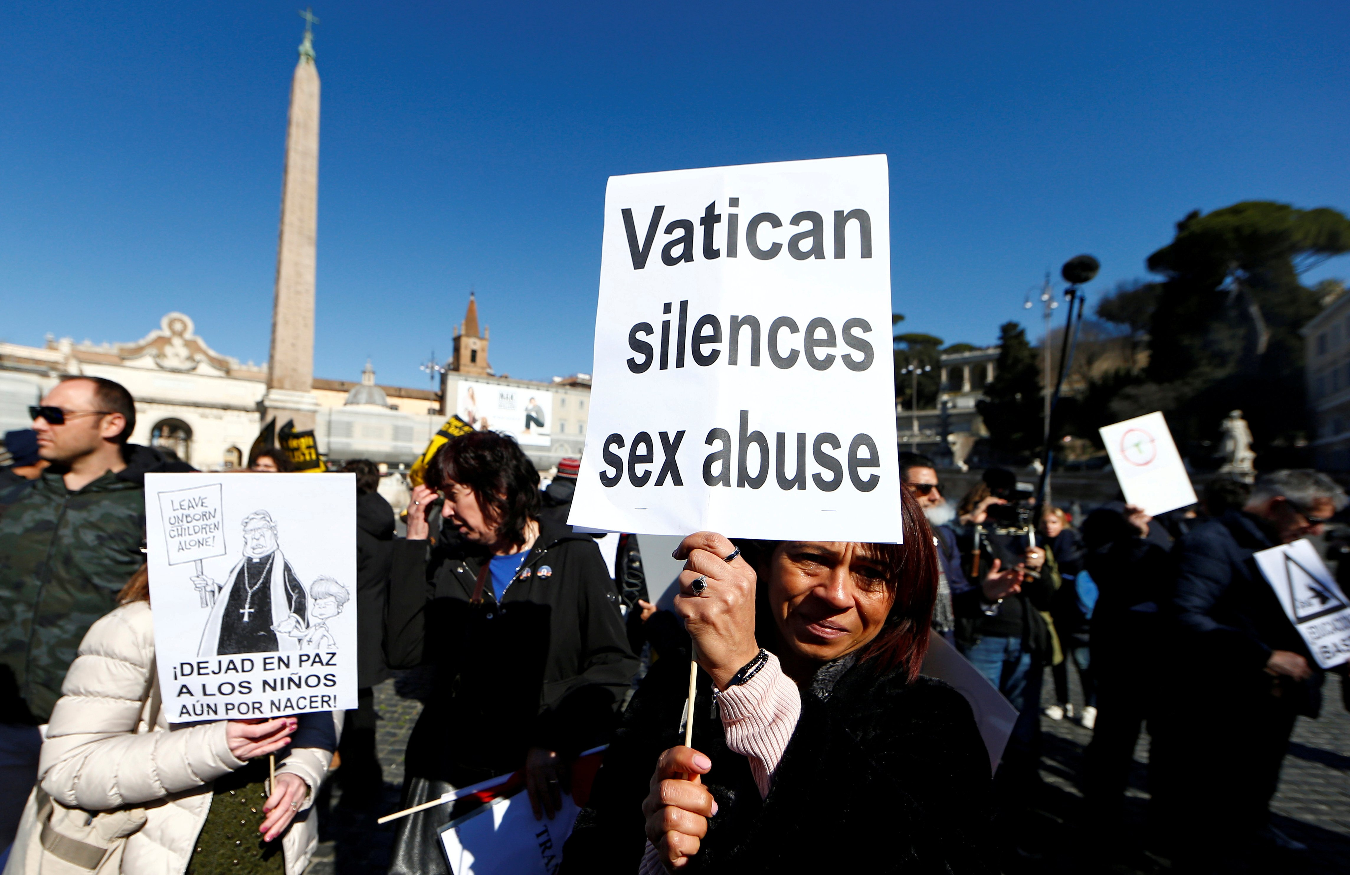 "People take part in ""March for Zero Tolerance"", during the four-day meeting on the global sexual abuse crisis at the Vatican, in Rome, Italy, February 23, 2019. REUTERS/Yara Nardi/File Photo"