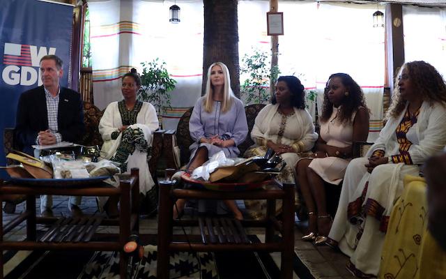 Ivanka Shines In Powde... Ivanka Trump Africa Trip