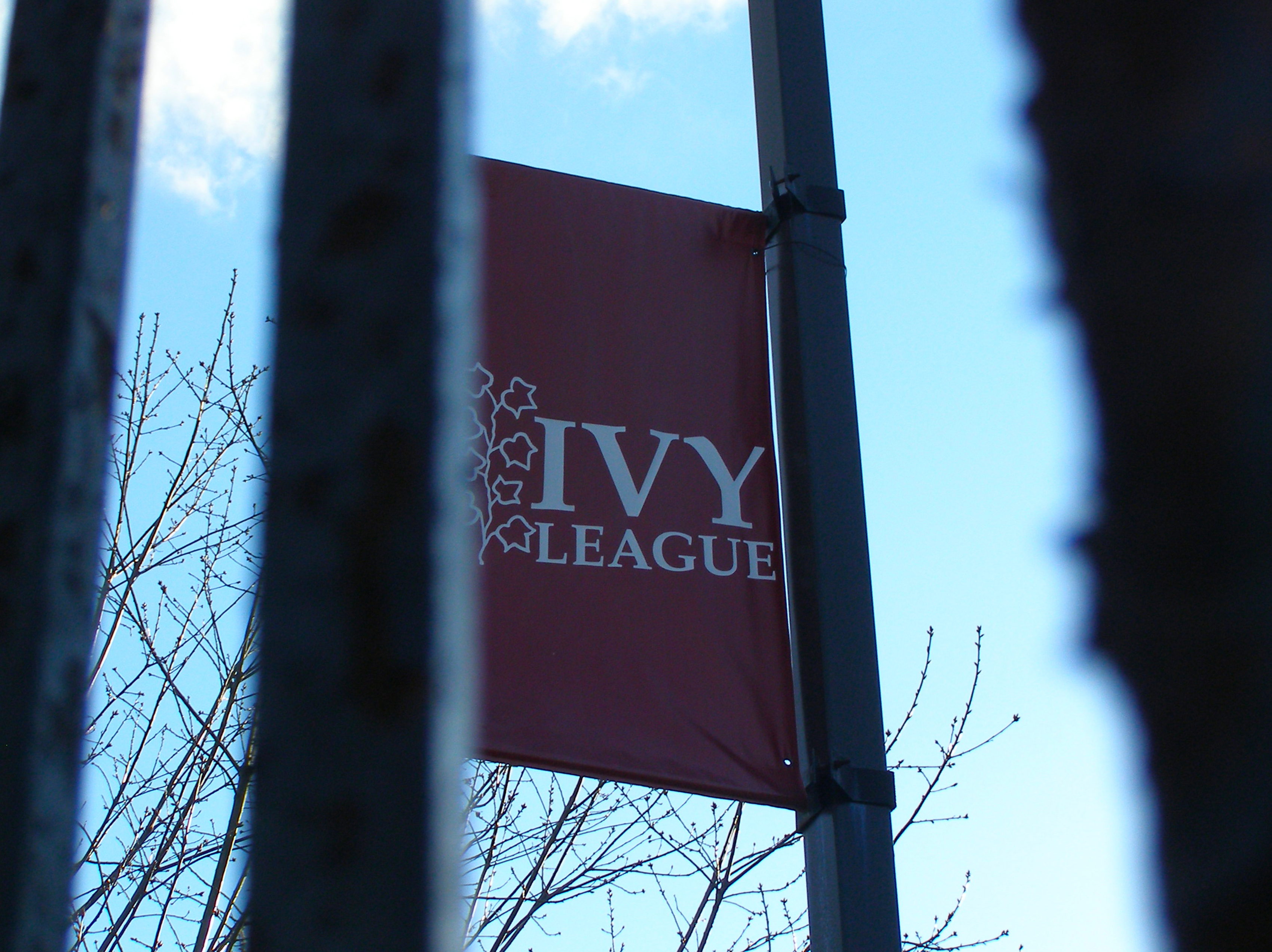 Pictured is a flag that says Ivy League. SHUTTERSTOCK/ Bilal Kocabas