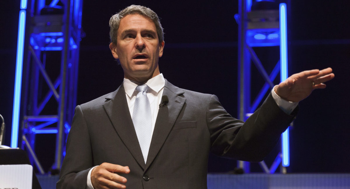 Former Virginia Attorney General Cuccinelli speaks at the Family Leadership Summit in Ames