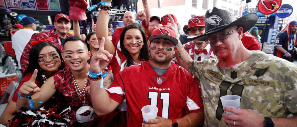 NASHVILLE, TN - APRIL 25: Arizona Cardinals fans gather for the first round of the NFL Draft on April 25, 2019 in Nashville, Tennessee. (Photo by Joe Robbins/Getty Images)