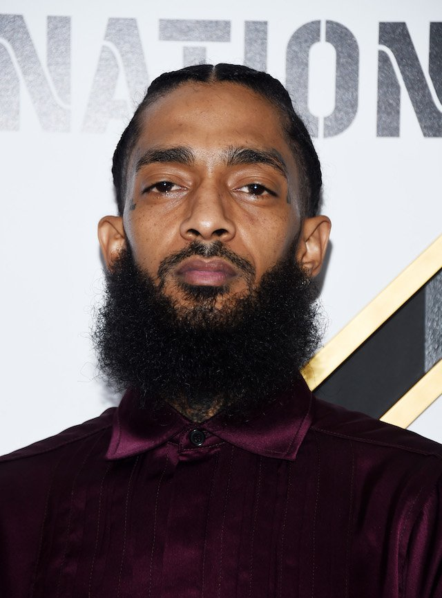 Nipsey Hussle arrives at the 2019 Roc Nation THE BRUNCH on February 09, 2019 in Los Angeles, California. (Photo by Amanda Edwards/Getty Images)