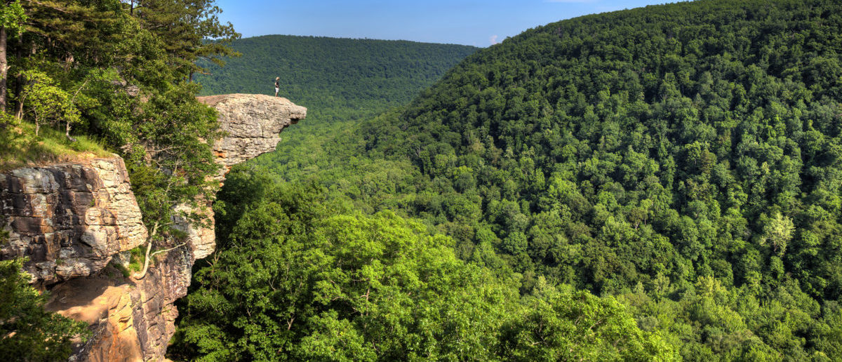 A college student died after falling off a cliff. SHUTTERSTOCK/ Brandon Alms