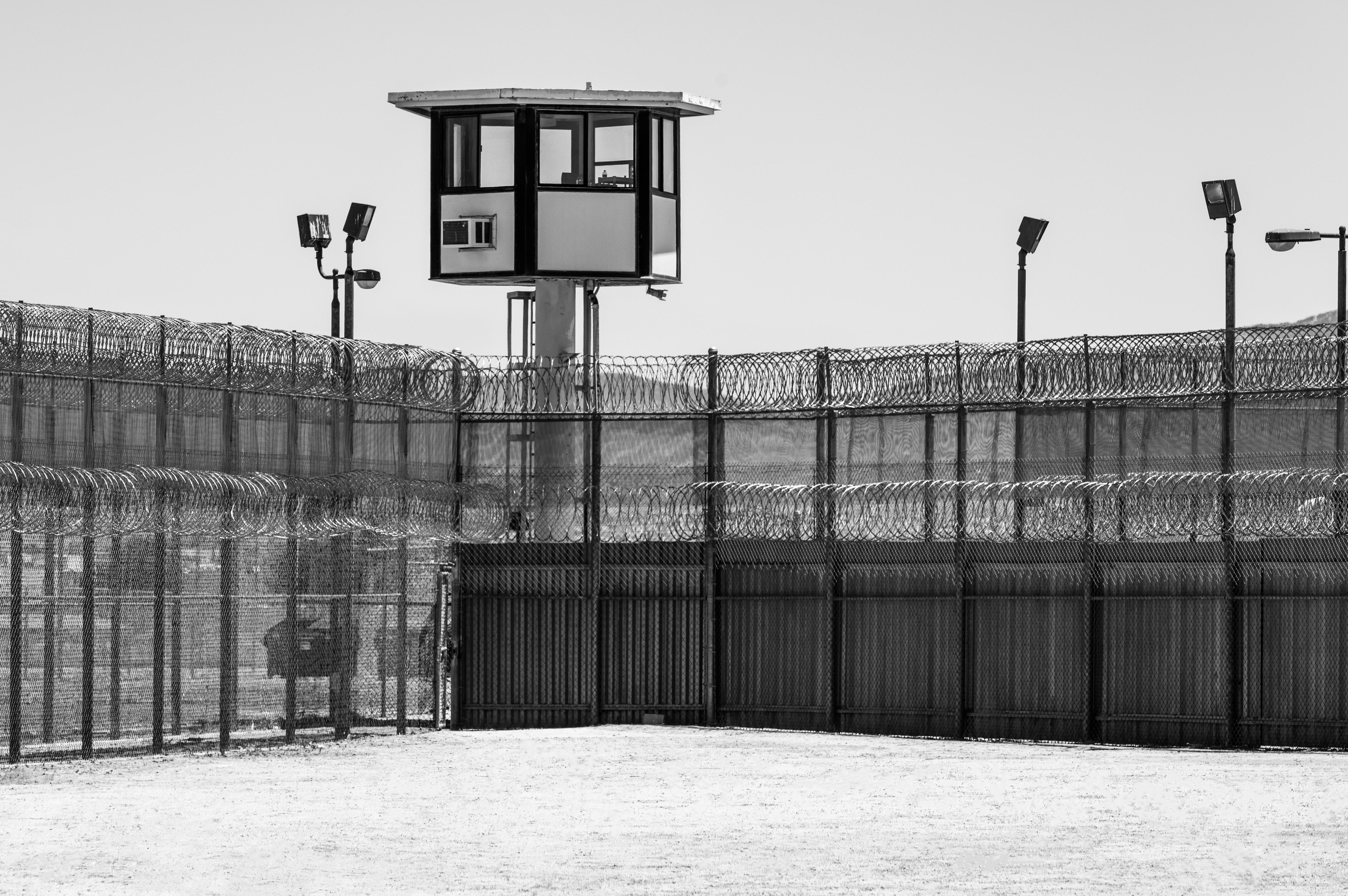 Prison Yard. Shutterstock