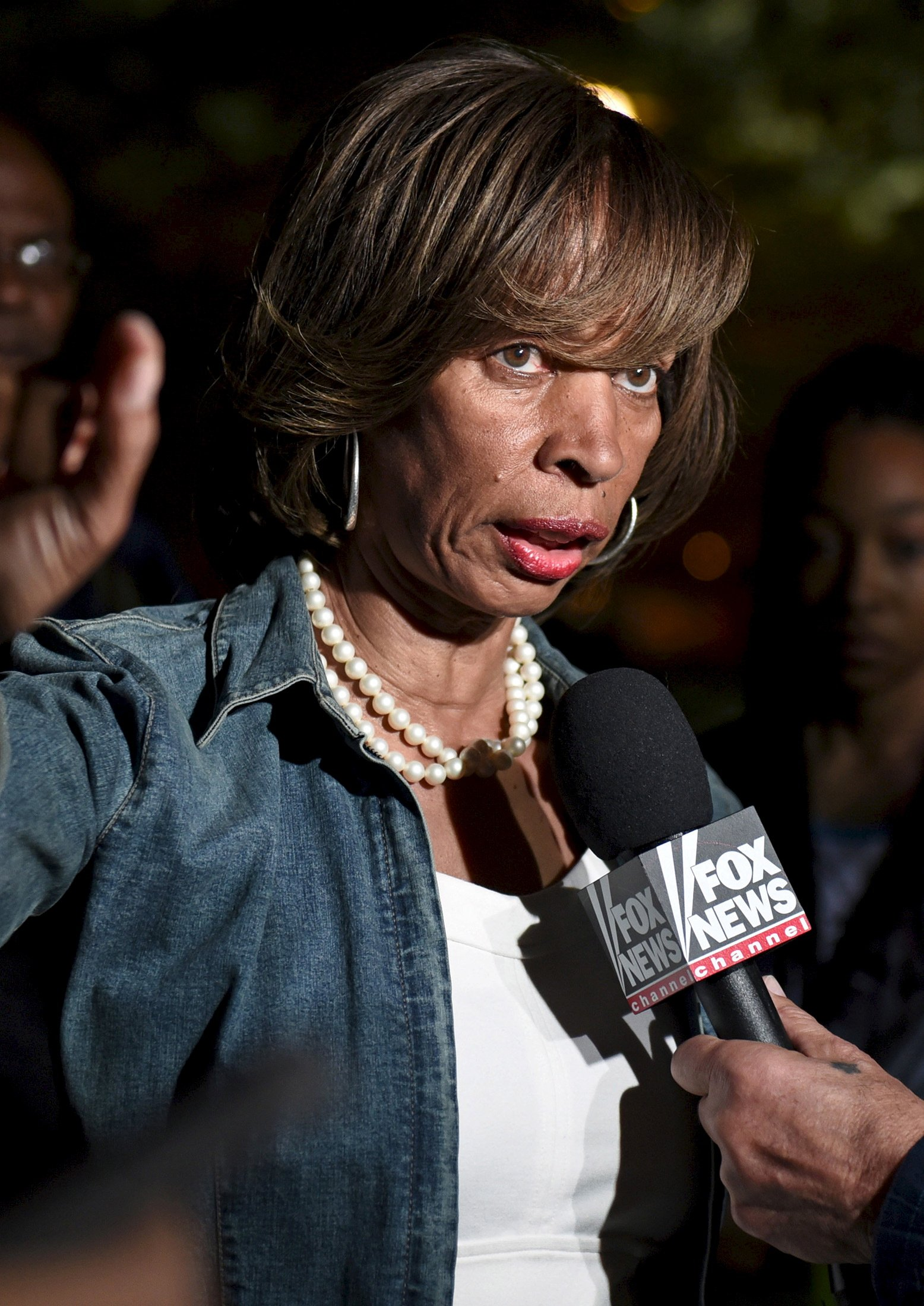 State Senator Catherine Pugh speaks near City Hall in Baltimore May 2, 2015. REUTERS/Sait Serkan Gurbuz/File photo