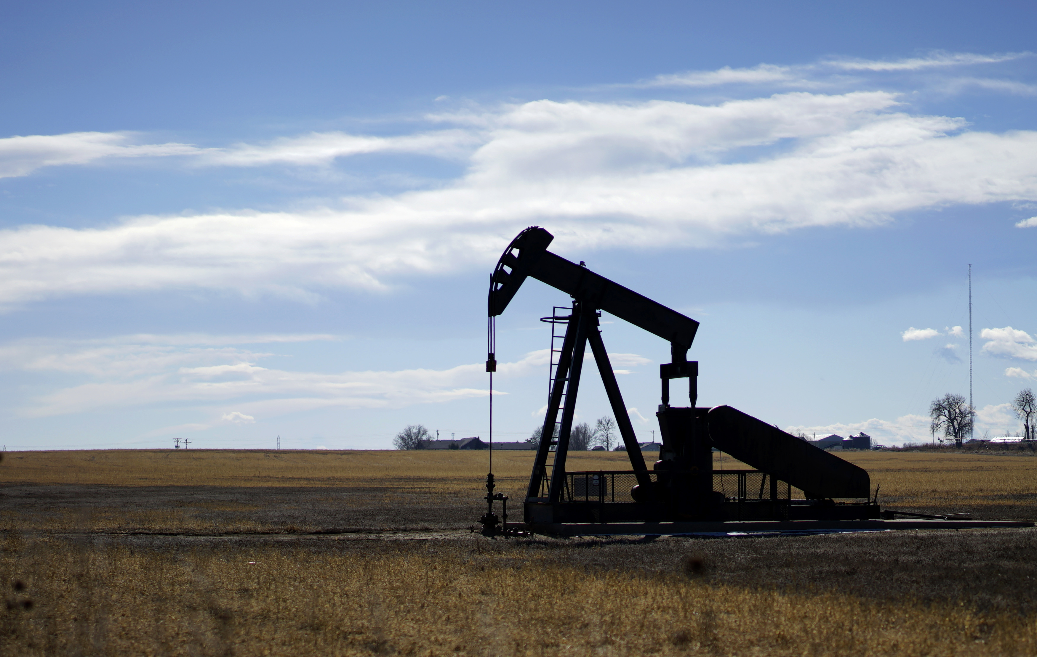 An oil well is seen near Denver