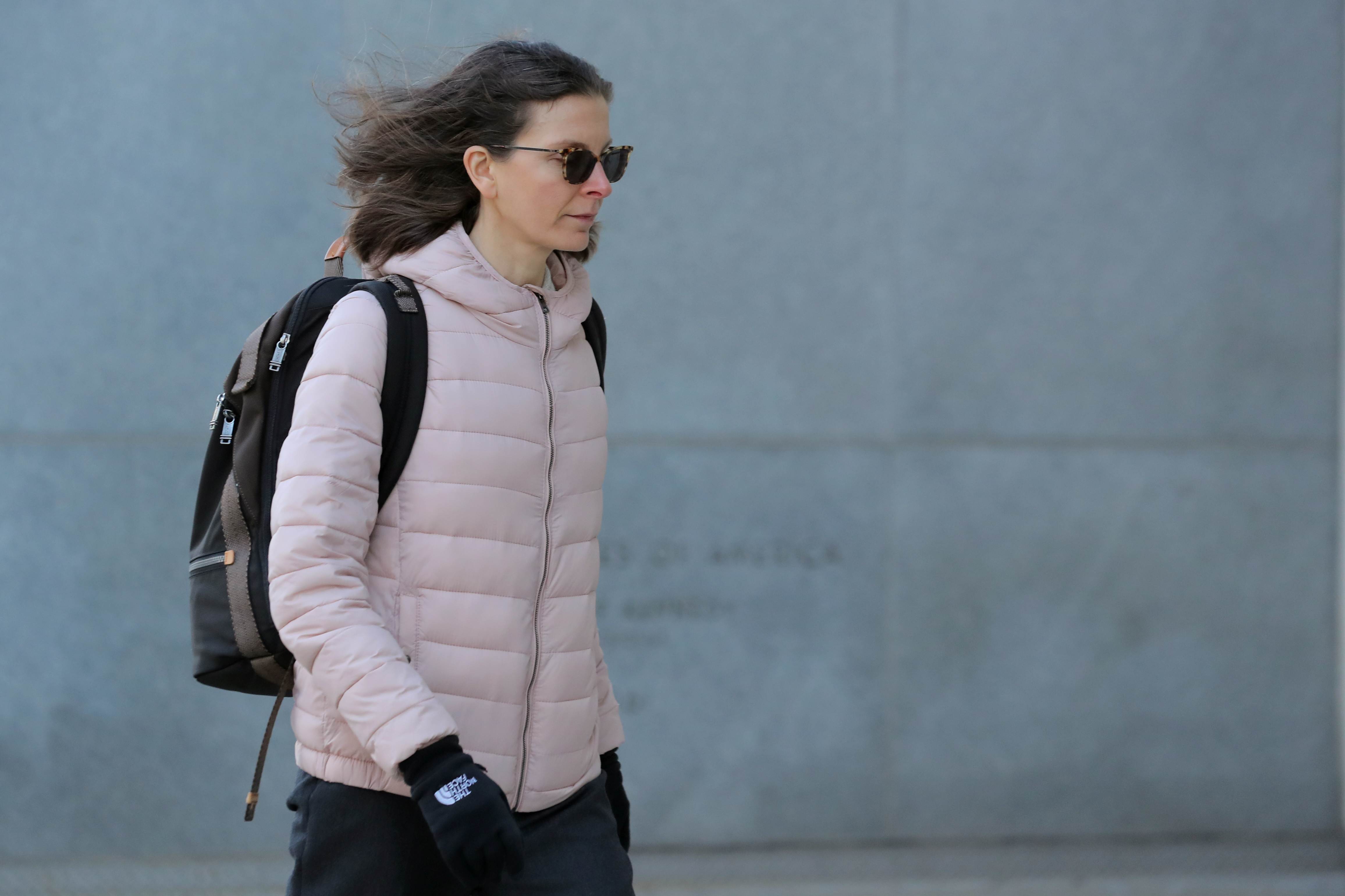 Clare Bronfman, an heiress of the Seagram's liquor empire, arrives at the Brooklyn Federal Courthouse, for her trail regarding sex trafficking and racketeering related to the Nxivm cult in the Brooklyn borough of New York, U.S., January 9, 2019. REUTERS/Brendan McDermid